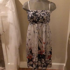 Lapis Floral Strapless Dress Size Small